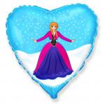 Воздушный шар (18''/46 см) Сердце, Принцесса Алексия, 1 шт.